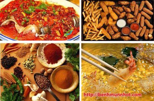 Bé không nên ăn thực phẩm có nhiều dầu mỡ - Trẻ bị mụn nhọt kiêng ăn gì?